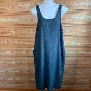Eileen Fisher Silk Wool Blend Blue Lagenlook dress